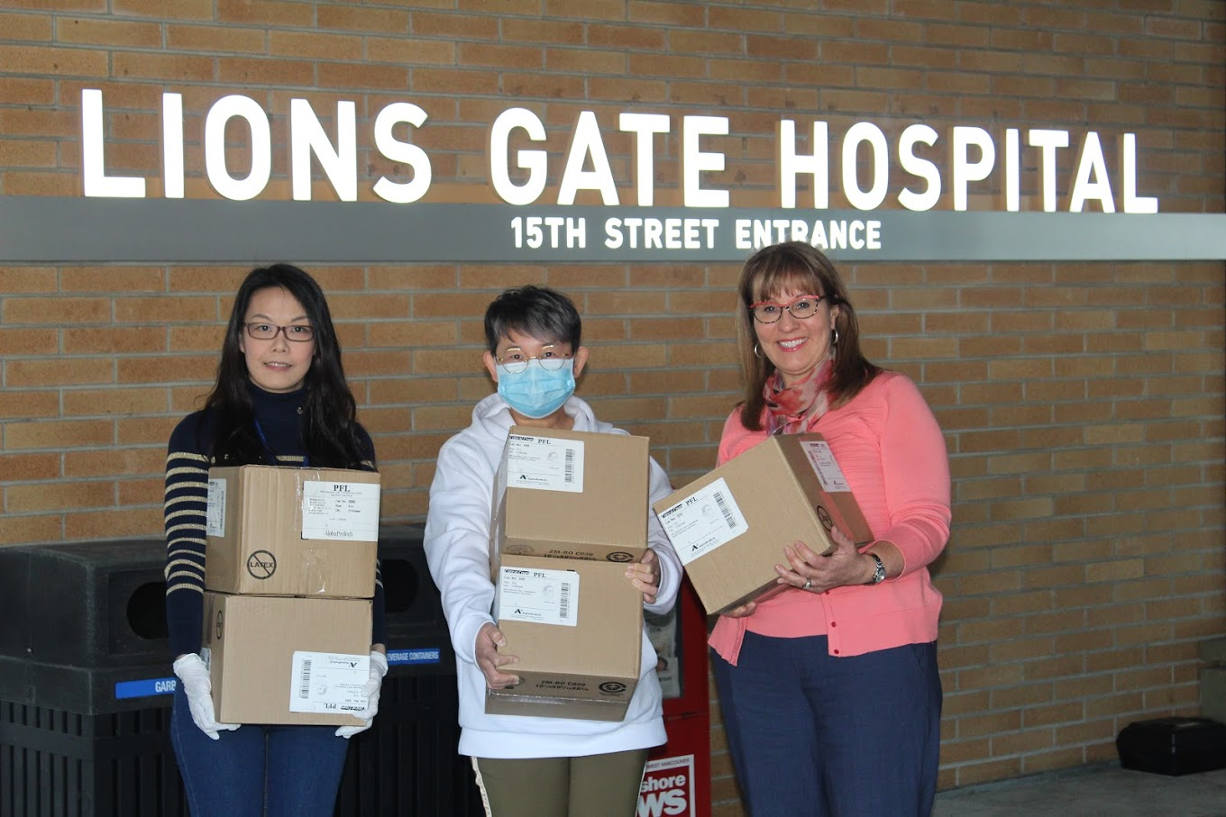 Donating N95 Masks to Lions Gate Hospital